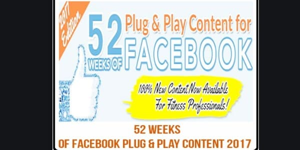 52 Weeks of Facebook Plug and Play Content 2017 - Alicia Streger