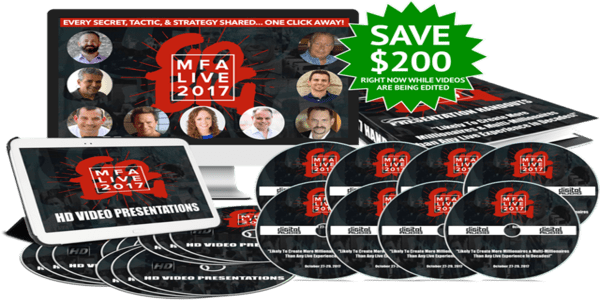 only $80, MFA Live Event 2017 Recordings - Todd Brown