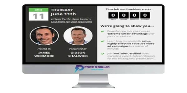 only $63, Paid Video Ads Bootcamp – James Wedmore